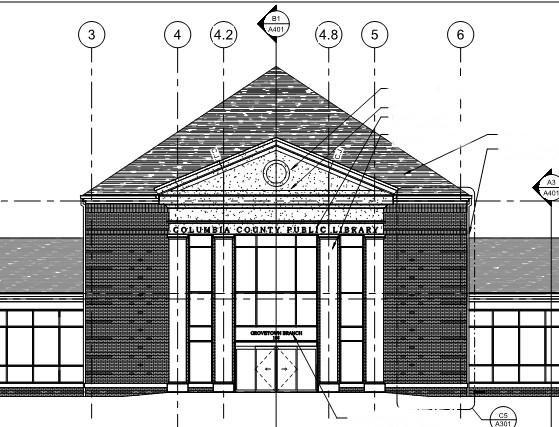 Grovetown Library Elevation (Cropped) | SD Clifton Construction